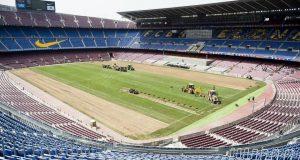 برشلونة يستبدل أرضية الكامب نو بعشب هجين للمرة الأولى