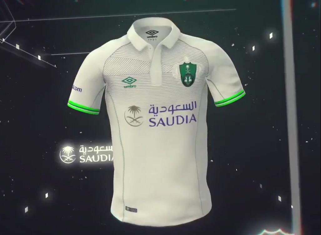 """e60da13d9 وأعلن متجر النادي الأهلي أن بيع قمصان الفريق بشعار الراعي الجديد """"الخطوط  السعودية"""" سيبدأ من يوم الخميس القادم."""